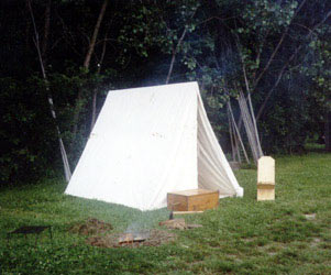 Historic Tipis and C& Gear Wedge Tent & Panther Primitives - Tents for the Fur Trade - Reproduction Tents ...